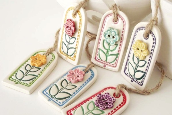 Flower Gift Tags by Dottery Pottery