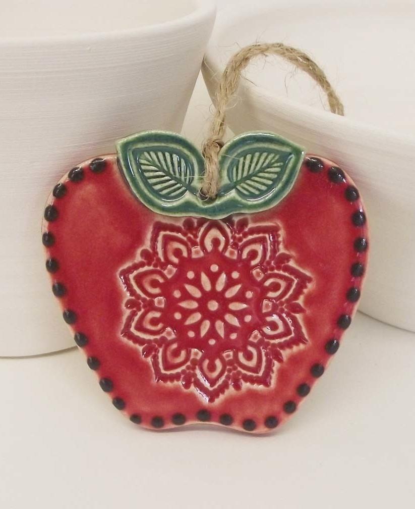 Folk apple decoration, Dottery Pottery