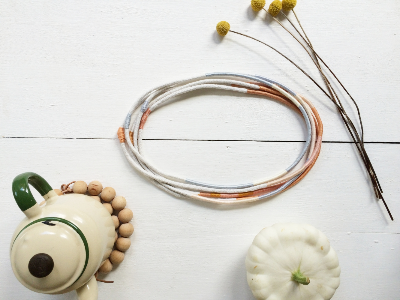 Meet the Maker, Peggy Peg, thread and rope necklaces