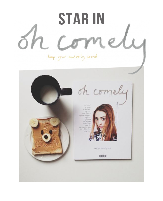 Star in Oh Comely magazine