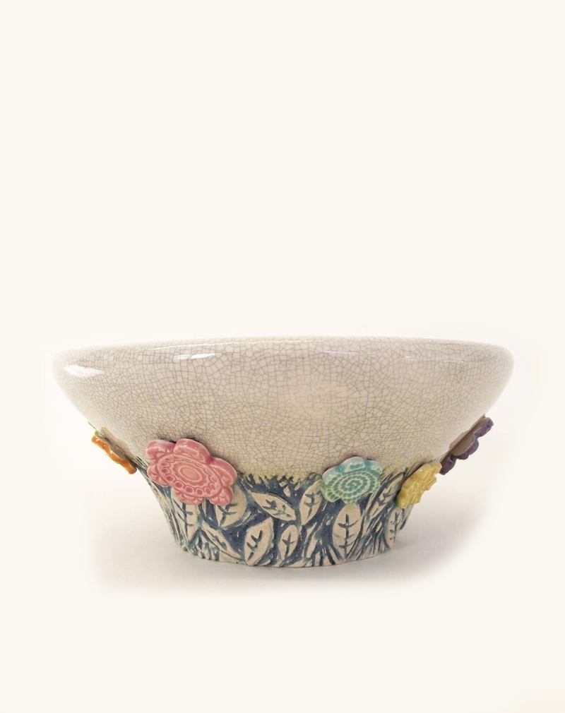 Ceramic Flower Bowl by Dottery Pottery