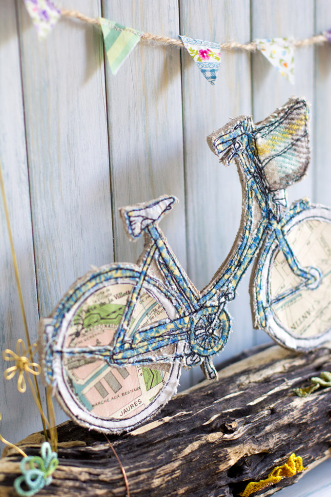 Katie Essam, bicycle embroidery