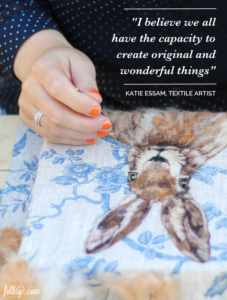 Katie Essam, textile artist,