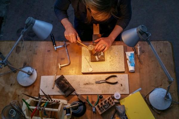 liz hutchinson, jeweller, hebden bridge, artist, interview