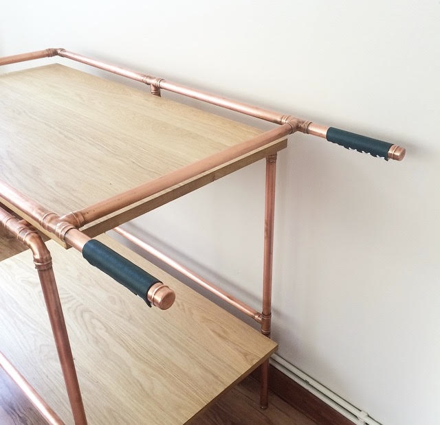 Copper Pipe Drinks Trolley, Copper and Solder, cocktails