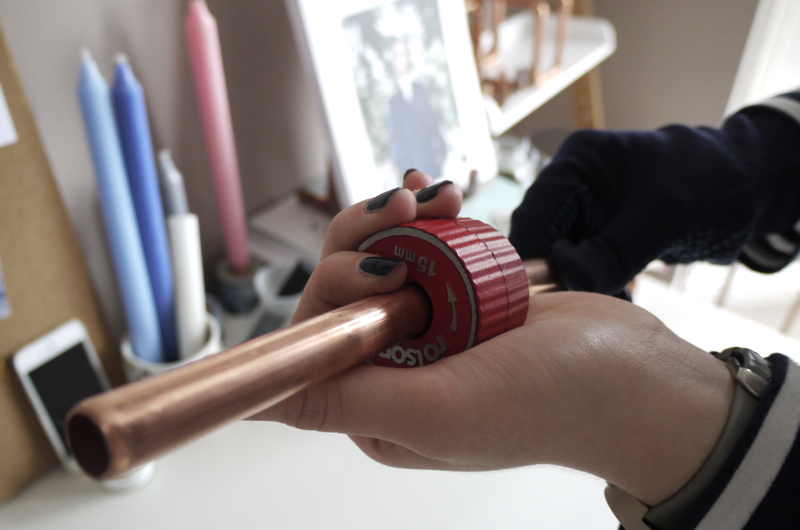 cutting copper pipes, copper and solder