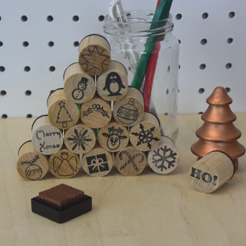 Christmas stamps, serious stamp company