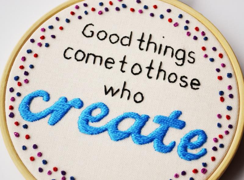 Pixiecraft Inspiration Stitched In Thread
