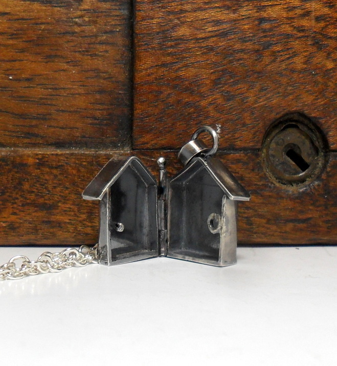 House locket necklace