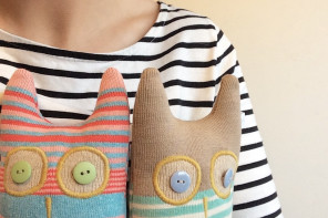 Love Lottie Knits: candy stripes, folklore style and a rabbit called Bertie