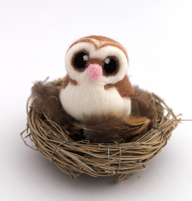 Needlefelt Barn Owl - Felt Me Up Designs