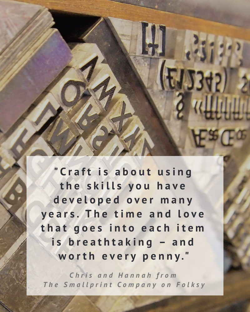 The Smallprint Company on what craft means to them
