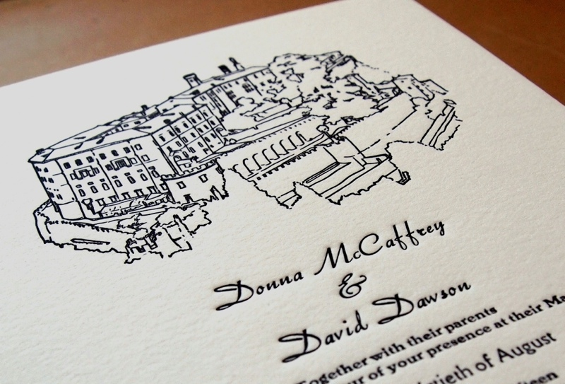 personalised letterpress wedding stationery, smallprint company