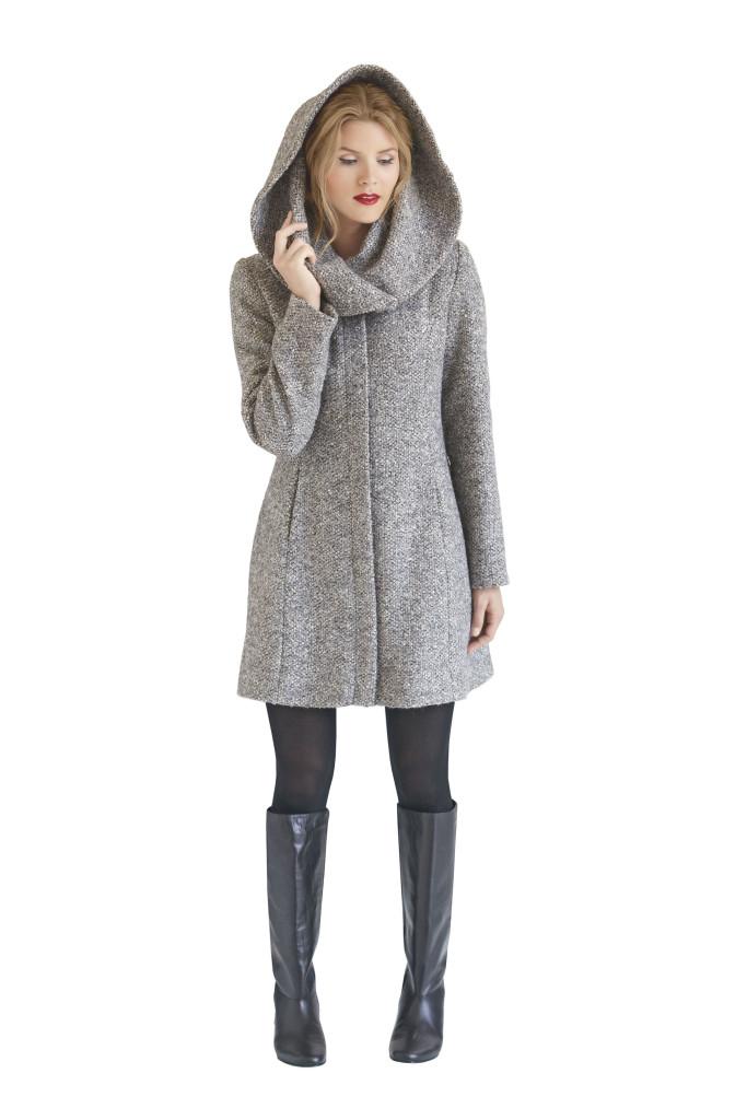 1254 simplicity roll neck coat