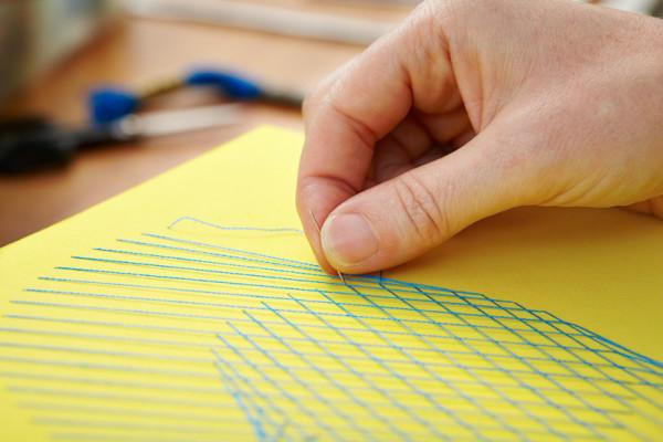 Alison McIntyre, curve stitch, curve stitching, thread art, textile art, textile artist
