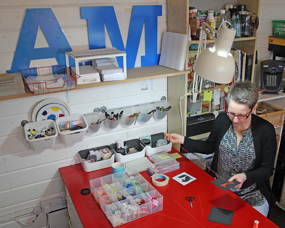 Alison McIntyre, thread art, Leeds artist