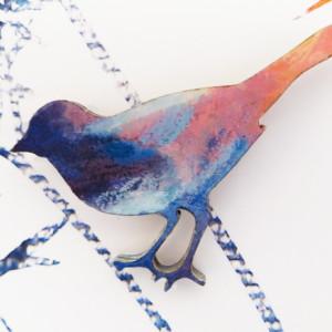 art you wear bird brooch