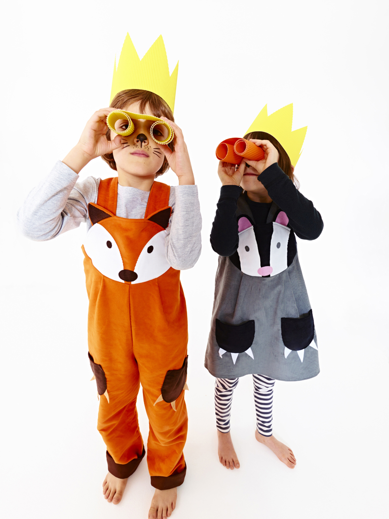 Fox dungarees, wild things,