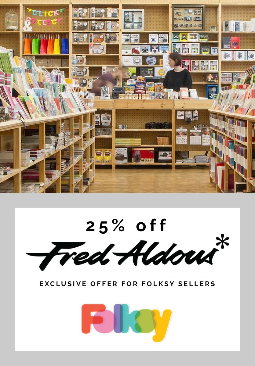 Fred Aldous discount for Folksy sellers, exclusive offer
