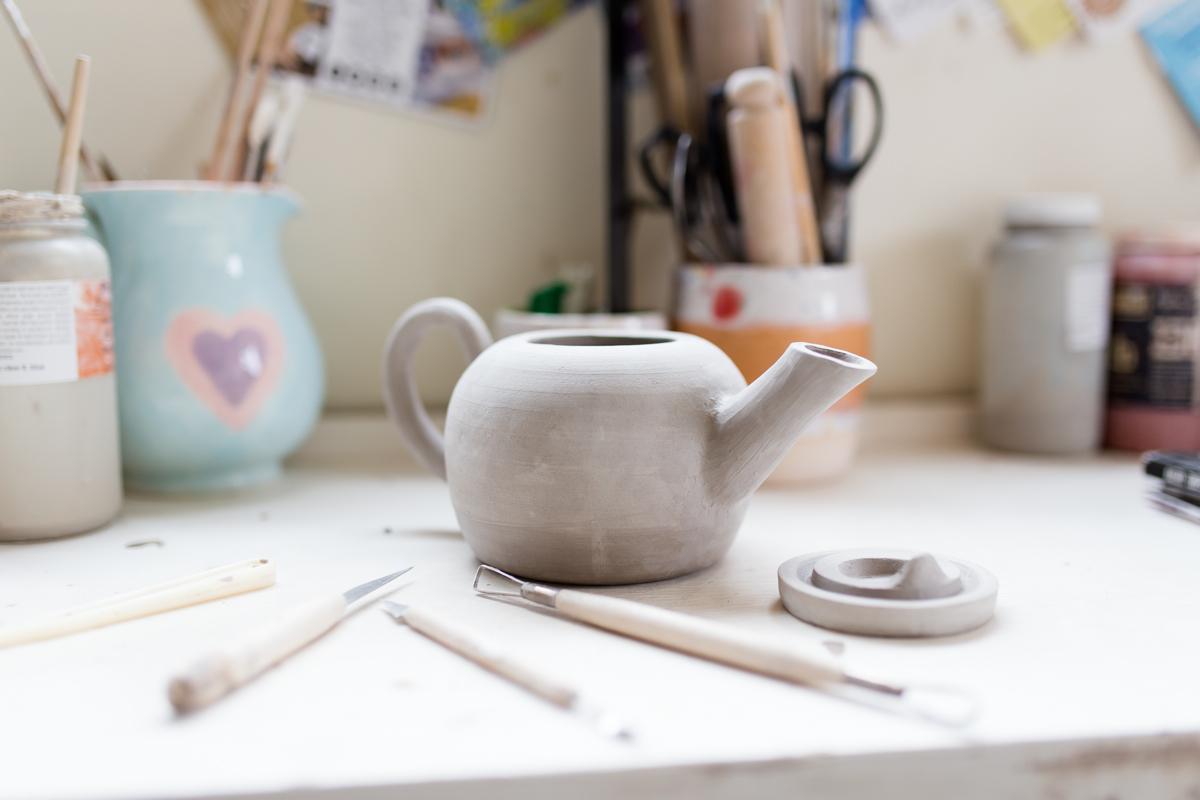 handmade teapot, UK ceramics, kara leigh ford