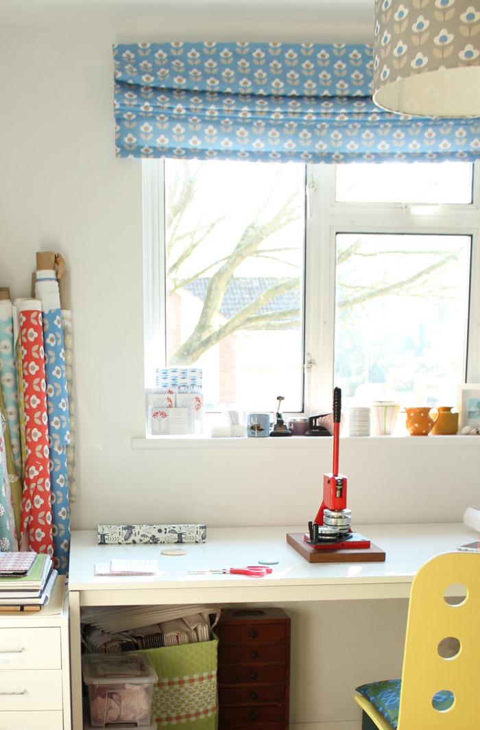 Louise Brainwood textile designer, home studio