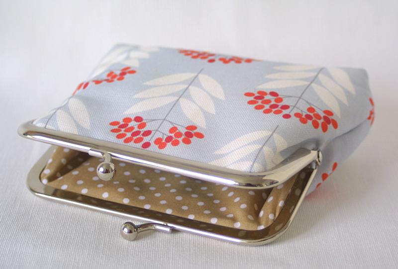 elderberry fabric, purse, Louise Brainwood