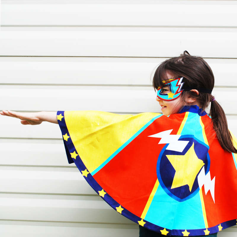 Superhero fancy dress cape, childrens clothes