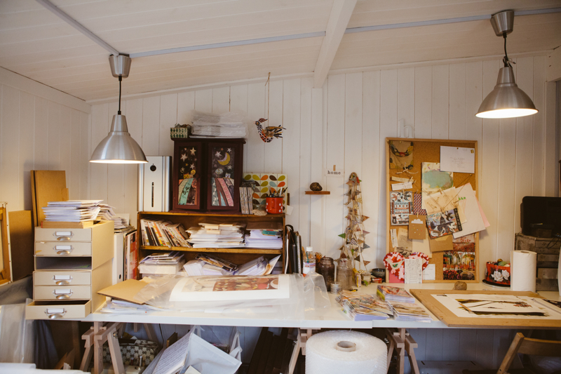 Helen Hallows, artist studio, India Hobson, garden studio