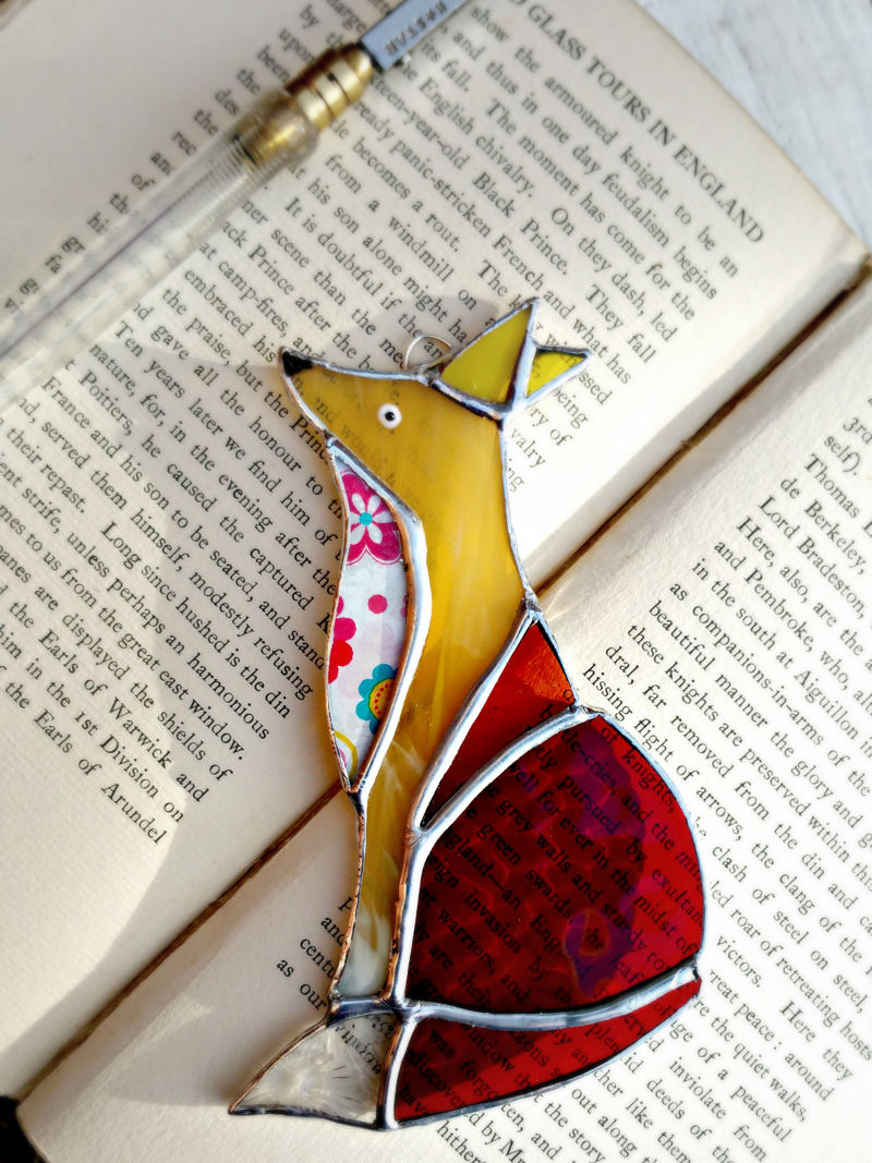 stained glass fox, jenny newall