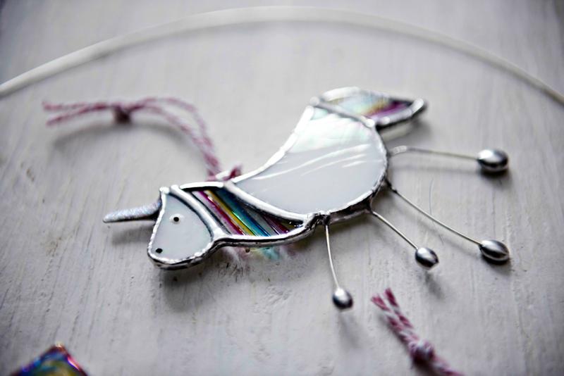 stained glass unicorn, jenny newall