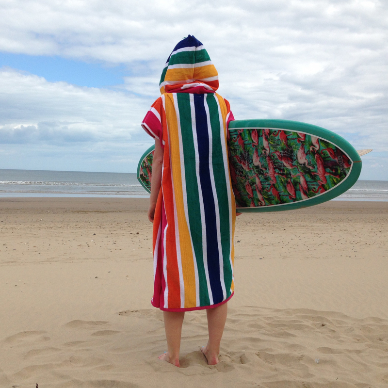 striped cover up, surfers, cover-up surf, surf poncho, changing towel,