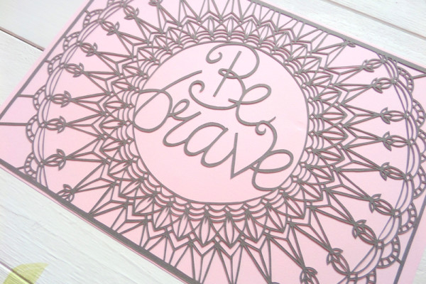 gemma esprey, papercutting, papercut artist, uk, be brave papercut, motivational papercut