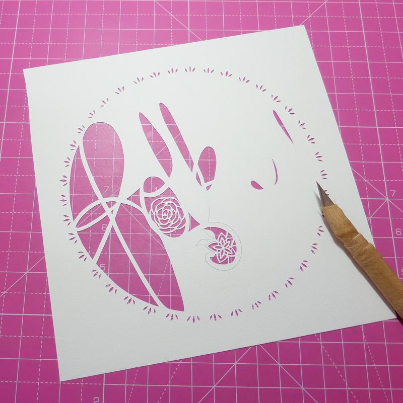 folksy papercut logo, gemma esprey, papercutting, papercut artist, uk