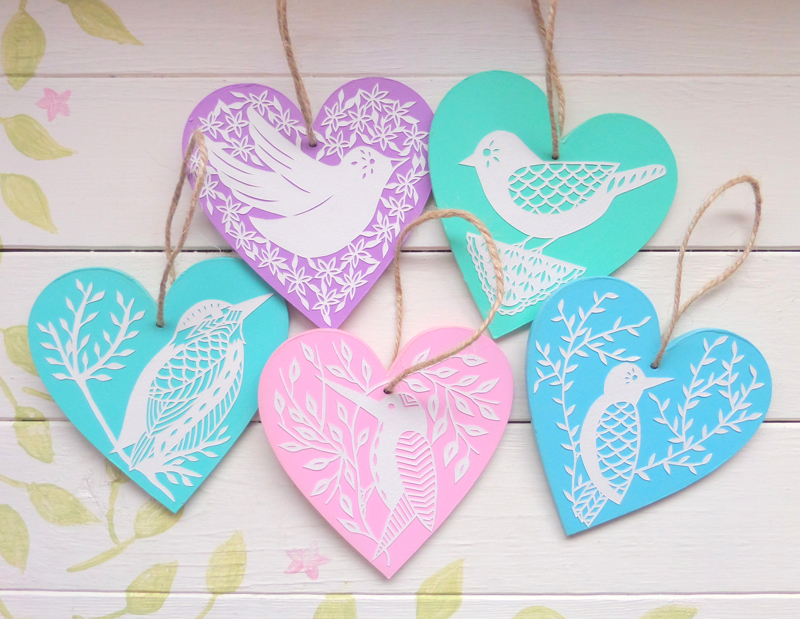 gemma esprey, papercutting, papercut artist, uk, wooden papercut hearts