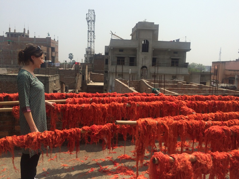 yarn trip to India, hand-spun yarn, hand-dyed yarn, Bihar, India, Julie Colquitt