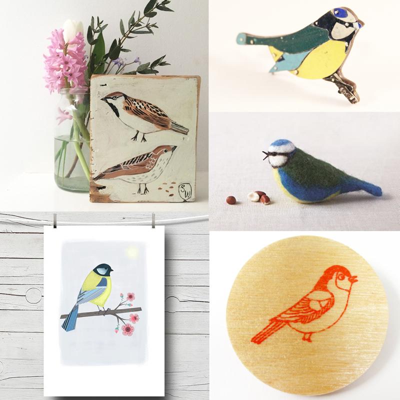 garden birds, folksyfriday, folksy friday