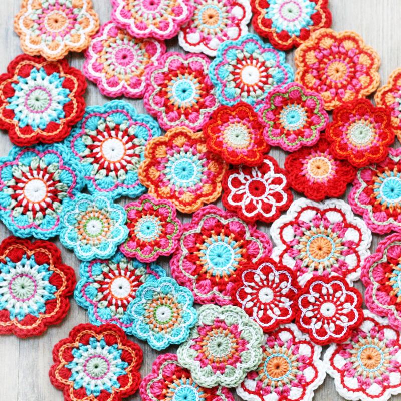 crochet flowers, crochet jewellery, modern crochet, flourish and fly, kate green,