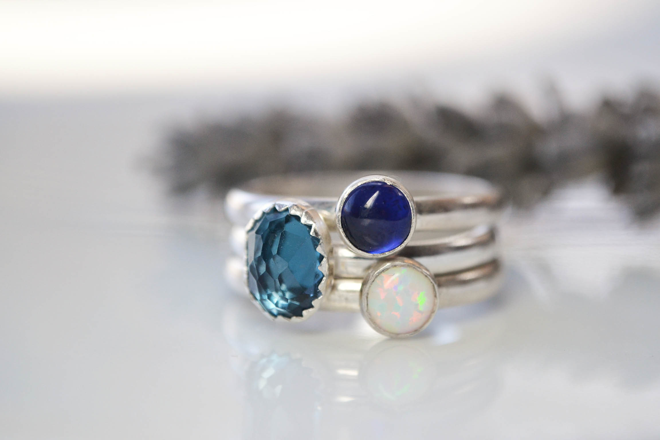 Birthstone stacking rings, Becky Pearce