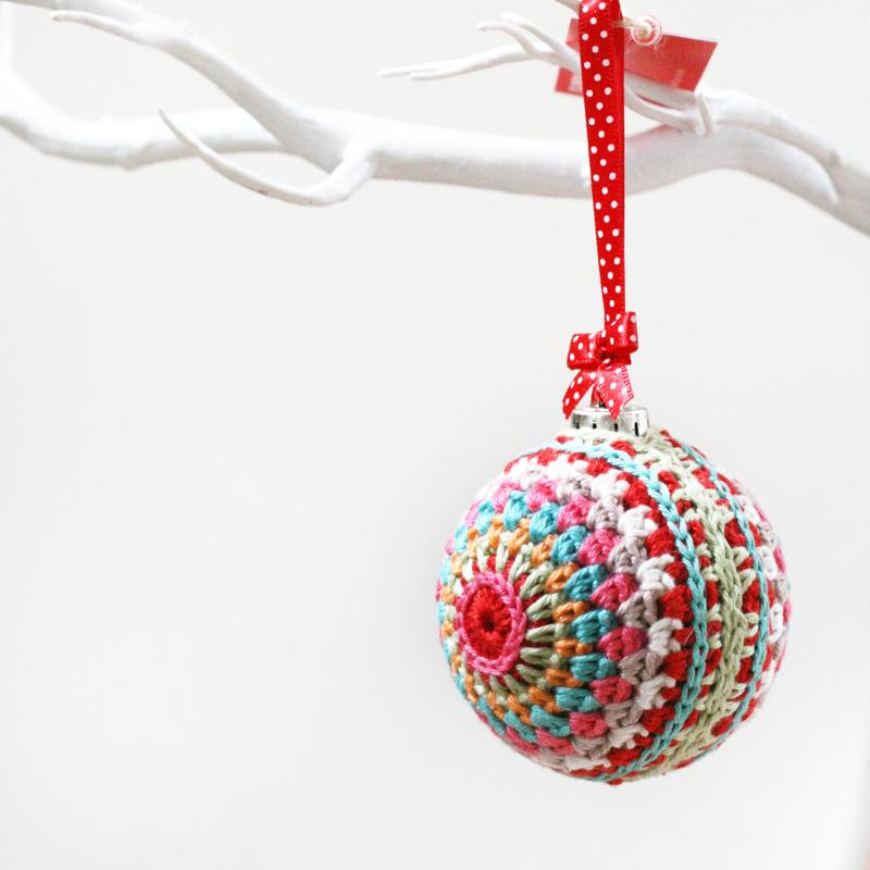crochet bauble, modern crochet, flourish and fly, kate green,