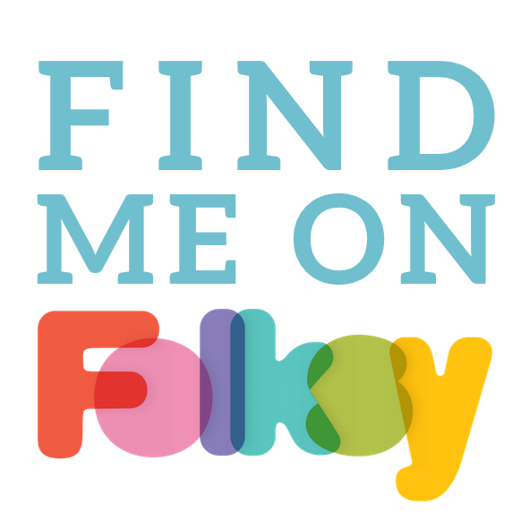 Find me on folksy sticker
