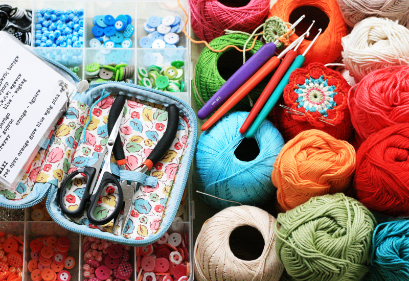 crochet jewellery, modern crochet, flourish and fly, kate green, interview