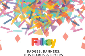 New Folksy badges, banners and printable flyers and postcards