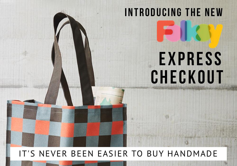 Buy handmade, Folksy express checkout