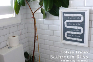 Folksy Friday – Bathroom Bliss by Sianuska