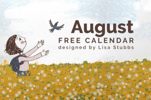 Free calendar and phone wallpaper designed by Lisa Stubbs