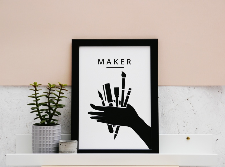 rosie oneill, maker, styled product shots, photography tips, maker print,