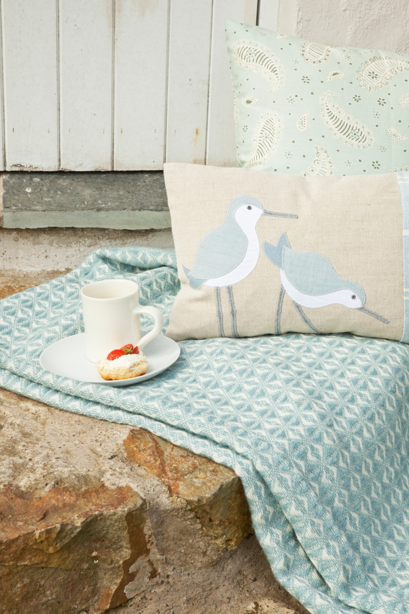 seaforth designs, seabird cushion, photographing cushions, product shot tips, styled product shots