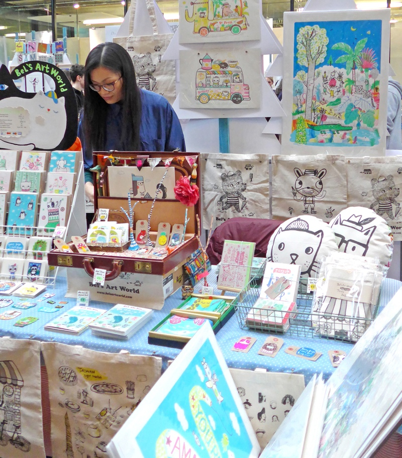 Bels Art World, BelsArt, Belinda Chen, Bel Chen, illustrator, craft fair, stall display
