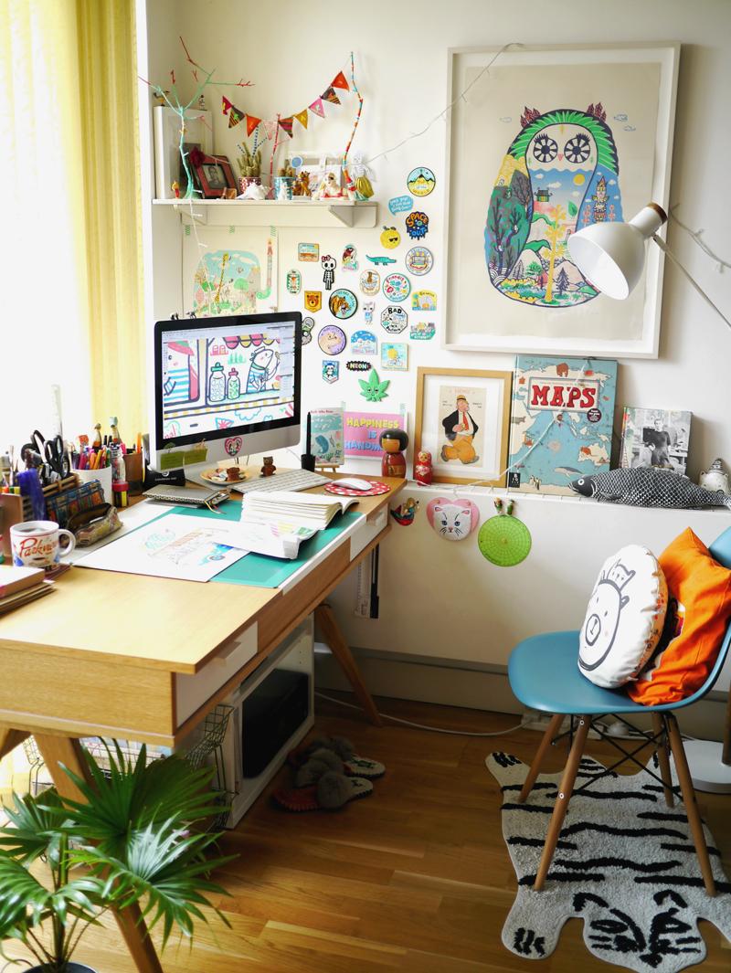artist studio, Bels Art World, BelsArt, Belinda Chen, Bel Chen, illustrator,