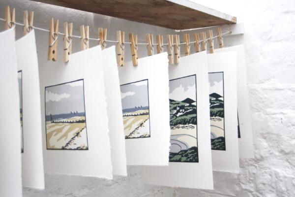Fiona Carver, printmaker, linocuts